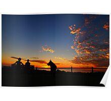 Scarborough Beach Sunset Poster