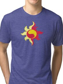 My little Pony - Sunset Shimmer Cutie Mark V3 Tri-blend T-Shirt