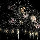 Lake Burley Griffin Comes To Life Canberra Australia  skyfire 2013 by Kym Bradley