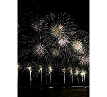 Lake Burley Griffin Comes To Life Canberra Australia  skyfire 2013 Photographic Print