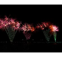 Flowers in the Lake Skyfire  2013  Canberra Australia  Photographic Print