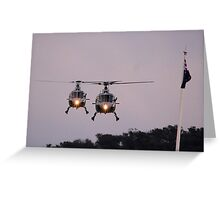 Royal Australian Navy Helicopters, Skyfire 2013 Canberra Australia  Greeting Card
