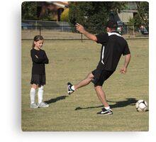 Soccer lesson Canvas Print