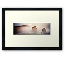 Australia - Great Ocean Road Panorama - I Framed Print