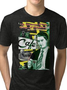 "Twin Peaks Agent Cooper ""A Damn FIne Cup of Coffee"" Tri-blend T-Shirt"