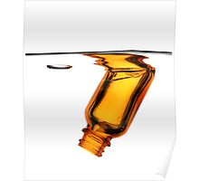 Amber Bottle Submerged Poster