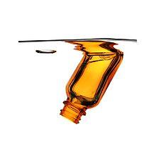Amber Bottle Submerged Photographic Print