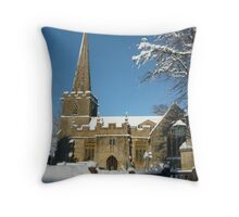 Stanton Church, Broadway, Worcestershire Throw Pillow
