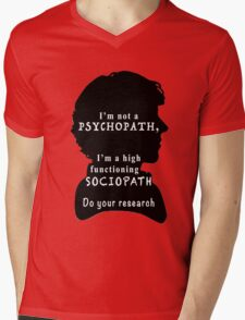 I'm a high functioning sociopath Mens V-Neck T-Shirt