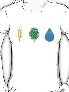 Basic ingredients for beer T-Shirt