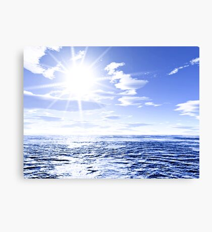 Sunshine and global warming Canvas Print