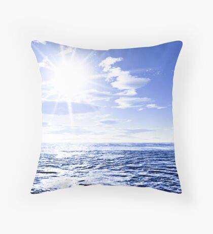 Sunshine and global warming Throw Pillow