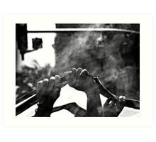 A Future Up In Smoke Art Print