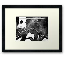 A Future Up In Smoke Framed Print