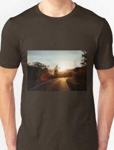 Road at sunset T-Shirt