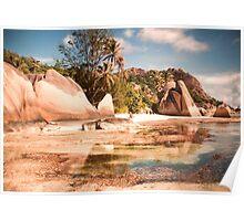 Seychelles. Anse Source d' Argent . La Digue. Poster