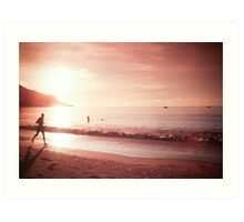 Seychelles sunset. Art Print