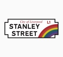 Stanley St., Street Sign, Liverpool, UK One Piece - Short Sleeve