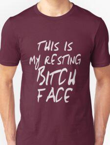 Resting Bitch Face Girls funny nerd geek geeky Unisex T-Shirt