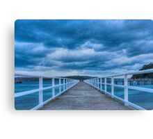 Along the jetty Canvas Print
