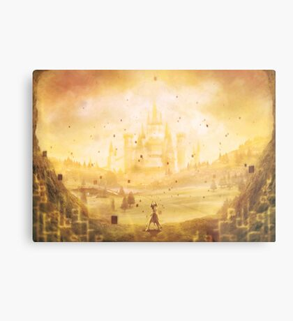 Golden Hyrule (25 left!) Metal Print