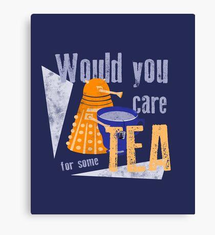 Dalek with Tea Canvas Print