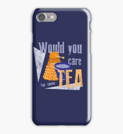 Dalek with Tea iPhone Case/Skin