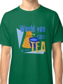 Dalek with Tea Classic T-Shirt
