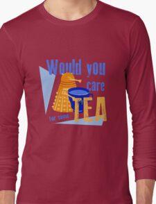 Dalek with Tea Long Sleeve T-Shirt
