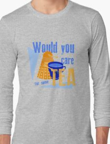 Dalek with Tea Long Sleeve T-Shirt
