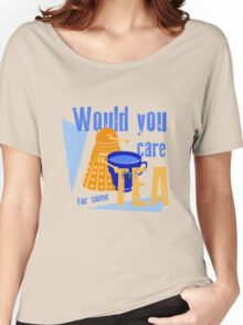 Dalek with Tea Women's Relaxed Fit T-Shirt