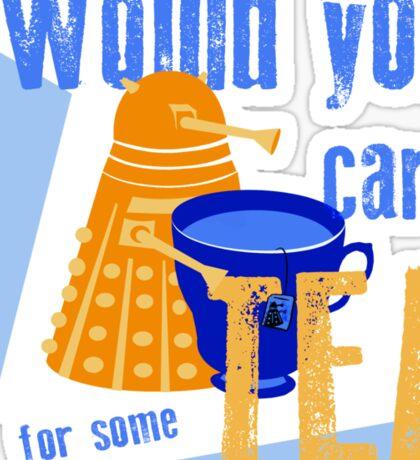 Dalek with Tea Sticker