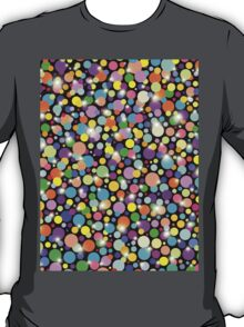Psychedelic Colors Bright Polka Dots T-Shirt