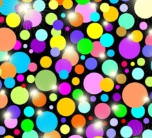 Psychedelic Colors Bright Polka Dots Sticker