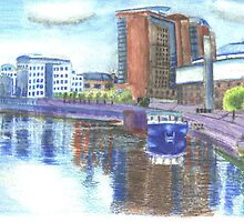 Belfast Waterfront  Watercolor by CreativMichelle
