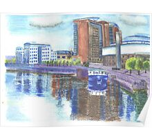 Belfast Waterfront  Watercolor Poster