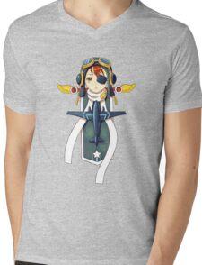 Pilot Banner Mens V-Neck T-Shirt
