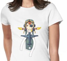 Pilot Banner Womens Fitted T-Shirt