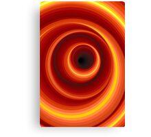 Hypnotic Virtual Orange Vertigo Hole Canvas Print
