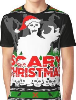 Scary Christmas Zombies Graphic T-Shirt
