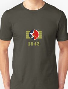 1942 - US Army Air Corps/Japanese Airforce Peace Logo T-Shirt