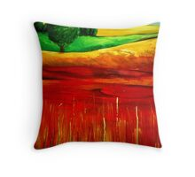 The Layered Landscape Throw Pillow