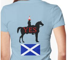 Glasgow Duke Says Yes Scotland T-Shirt Womens Fitted T-Shirt