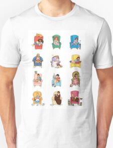 Reading fictional characters T-Shirt