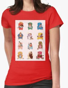 Reading fictional characters Womens Fitted T-Shirt