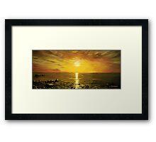 Atlantic Sunset Panorama Framed Print