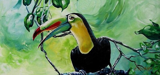 Toucan on a Branch by Cherie Roe Dirksen