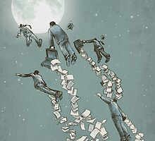 Flight of the Salary Men by Eric Fan