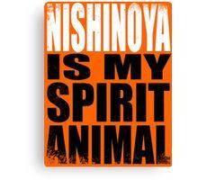 Nishinoya is my Spirit Animal Canvas Print