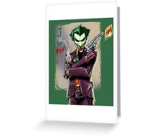 Sketchy Joker Greeting Card